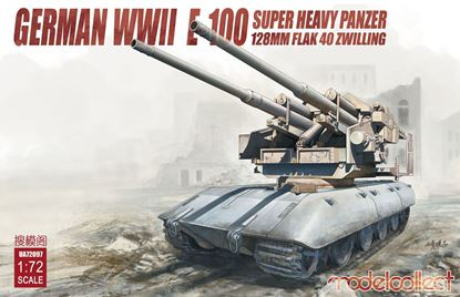 Picture of Germany WWII E-100 super heavy panzer with 128mm flak 40 zwilling